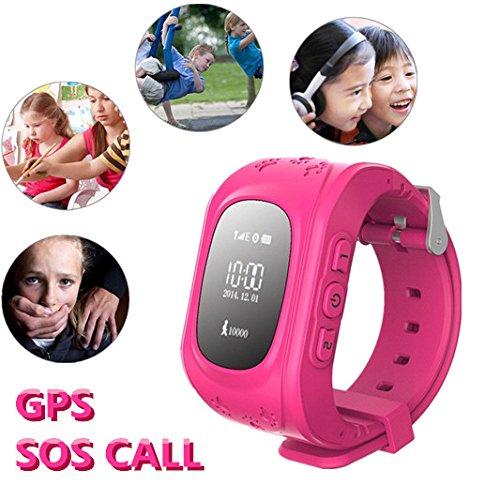 Hangang Reloj para Niños Smartwatch Niño para llamadas SOS localizador de dispositivo para niños seguro, antipérdida, reloj inteligente podómetro, SOS en tiempo real, seguimiento de los padres product image
