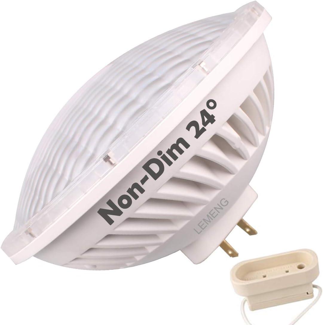 LeMeng Par56 LED Bulb 30W Spot Light, Non-dimmable, Warm White (2700-3000K) NSP 24-30°Beam Angle GX16D Base, Replace Par 56 300W Halogen Lamp