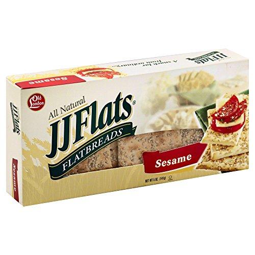 JJ Flats Sesame Flatbread, 5-Ounce Box (Pack of 12)