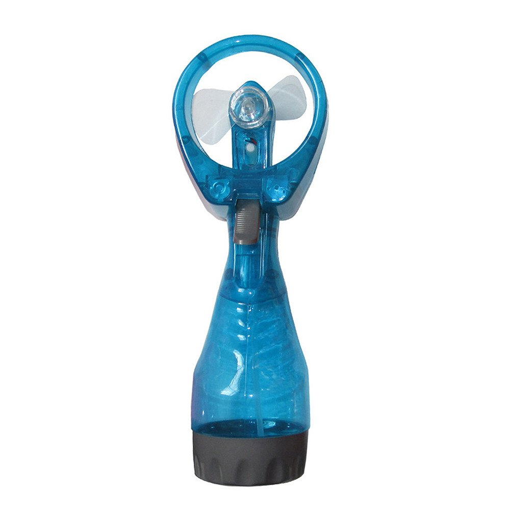 Sacow ???? Portable Hand held Cooling Cool Water Spray Misting Fan Mist Travel Beach (Sky Blue)