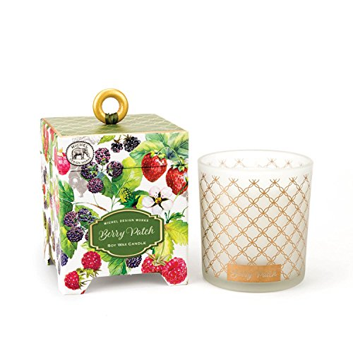 Michel Design Works Gift Boxed Soy Wax Candle, 6.5-Ounce, Berry Patch