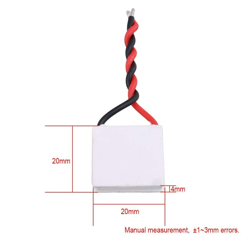 Gray White TES1-12730 Thermoelectric Cooler Cooling Peltier Plate Module Semiconductor 12V 62x62mm