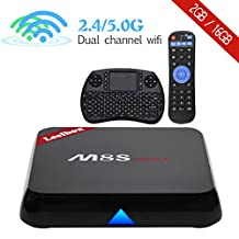 [Free Mini Keyboard] 2017 High configuration Leelbox M8S max Android TV Box with 2.4 RF MINI Keyboard, Android 6.0 TV Box 2GB+16GB/2.4GHz+5.0GHz Dual-band WIFI/Amlogic S905X Quad Core Supporting 4K (60Hz) Full HD/ H.265 /2.4G+5G Dual-Band WiFi/BT 4.0