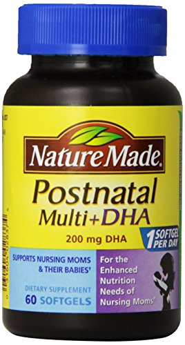 Nature Made Postnatal Multi-Vitamin Plus DHA Softgels, 60 Count