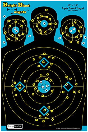 10-Pack-12-X-18-Triple-Threat-Target-Instant-Bright-Blast-Reactive-Silhouette-Shooting-Target