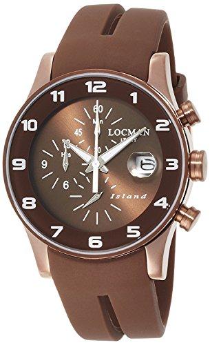 LOCMAN watch Island Quartz Chronograph silicon unisex 0620 0620BNNW-BNW2SIN