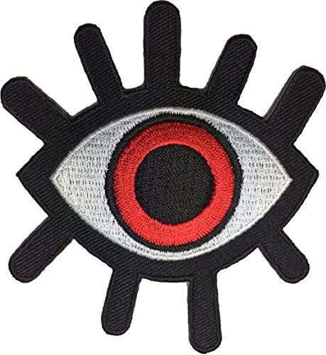 Eye Eyeball Tattoo Wicca Occult Goth Punk Rock Retro Applique Sew Iron on Embroidered Patch - Red