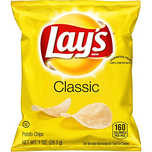 Lay's Classic Potato Chips, 1 oz (Pack of 40) ()