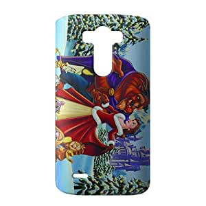 SHOWER 2015 New Arrival beauty and the beast christmas 3D Phone Case for LG G3