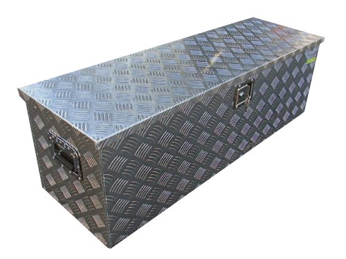 TMS Aluminum Tool Box Tote Storage for Truck Pickup Bed Trailer Tongue 49″x15″ +Lock