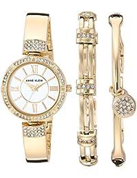 Women's AK/3294GBST Swarovski Crystal Accented Gold-Tone...