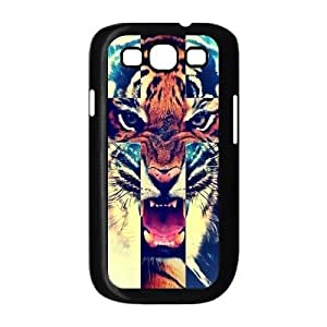 Samsung Galaxy S3 I9300 Case,Tiger Roar Cross Hipster Quote Jesus Christ Cross Combo Hign Definition Wonderful Design Cover With Hign Quality Hard Plastic Protection Case