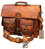 Crafat Classic Leather Messenger Satchel Laptop Leather Bag Leather Messenger Bag Briefcase Bag