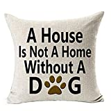Sumen Pillowcases Best Dog Lover Gifts Pillow Covers Cotton Linen Decorative Throw Pillow Case Cushion Cover Pillowcase for Sofa 18 x 18 Inch