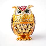 Best Trinket Boxes With Golds - Apropos Hand- Painted Owl Trinket Box with Rich Review