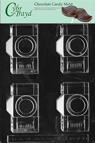 Cybrtrayd M090 Camera Flat Back Chocolate Candy Mold with Exclusive Cybrtrayd Copyrighted Chocolate Molding Instructions