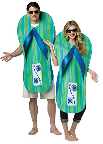 Rasta Imposta UHC Pair of Flip Flops Outfit Funny Theme Fancy Dress Halloween Couple Costume, OS