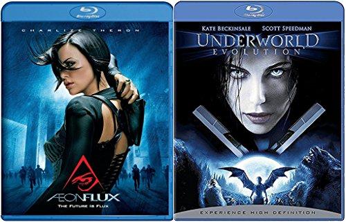 Aeon Flux + Underworld Evolution Blu Ray movie Set - Angels - Vampires & Lycans Series
