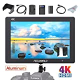 FEELWORLD T7 7 Inch 4K HDMI Camera Field Monitor and Battery Kit, Full HD 1920 x 1200 IPS Aluminum Video Assist for DSLR