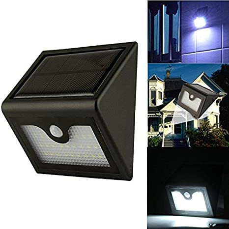 Nueva 28 LED Energía Solar luz y sensor de movimiento lámpara de pared lámpara de jardín