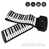 LeaningTech RUP002 88 Thickened-Keys Roll Up Piano Synthesizer/ Electronic Flexible Silicone Keyboard Hand-rolling Piano with Battery-sustained Pedal, US plug