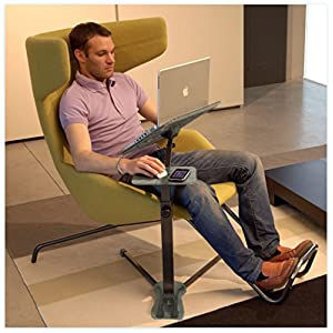 "Lounge-Book Laptop Table supports up to 17-18"" Notebook Computers. Coolfit Cooling System enhanced, Mouse-pad."