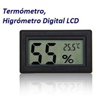 Termometro Higrometro LCD Digital Humedad Bodega Frigorifico Exterior Sauna Casa: Amazon.es: Electrónica