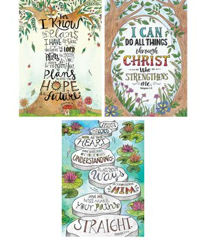 (Creative Teaching Press CTP2276 Religious Devotional Bible Verses Rejoice Inspire U Poster Wall Decor - Pack of 3)