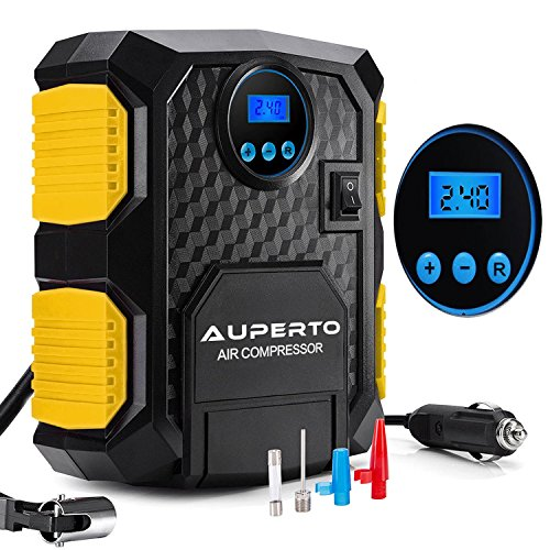 Air Compressor - AUPERTO Digital Tire Inflator Portable DC 12V Car Electric Pump - 150PSI(Waranty)