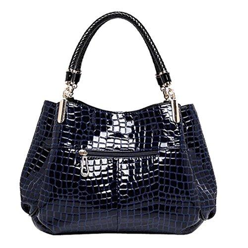 à Bleu sac cuir Messenger bandoulière en Femmes Vintage Rouge Tonsee® Sac Tote qwRYaa
