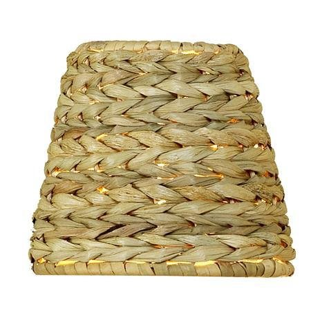 Upgradelights All Natural Woven Seagrass 12 Inch Washer Fitted Lampshade -