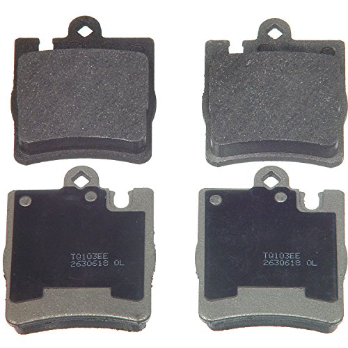 Wagner ThermoQuiet MX876 Semi-Metallic Disc Pad Set, - Rear Brake Amg C32