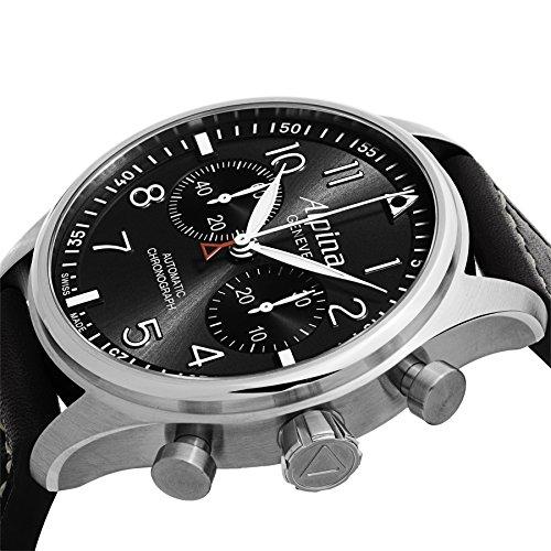 Alpina Aviation Startimer Pilot Chronograph Men's Leather Strap Watch AL-860GB4S6