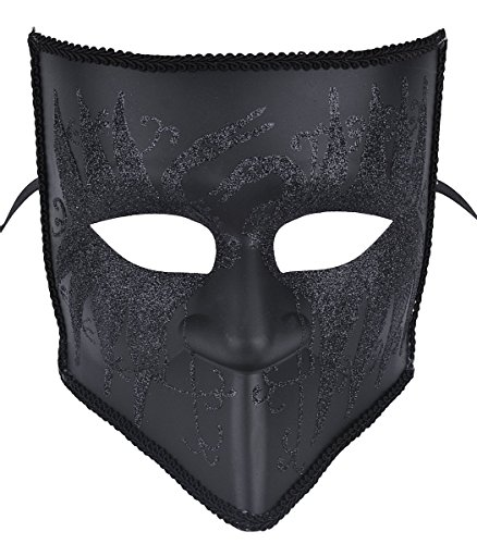 [Gentlemen Masquerade Mask Halloween Costumes Mardi Gras Mask With Floral] (Black Men Halloween Costumes)