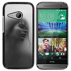 Be Good Phone Accessory // Dura Cáscara cubierta Protectora Caso Carcasa Funda de Protección para HTC ONE MINI 2 / M8 MINI // Girl Woman Deep Beautiful Black White