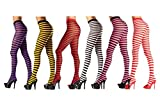 Costume Adventure Womens Striped Holiday Tights Pantyhose