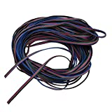 niceEshop(TM) 4 Color 10M RGB Extension Cable Line Wire for LED Strip RGB 5050 3528 Cord
