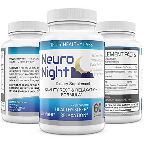 Sleep Aid   Neuro Night   60 Capsules   Promotes Healthy Sleep  Supports Normal Nocturnal Rhythms During Stress  Helps Boost Your Mood   Balance Brain Chemistry   Natural Ingredients