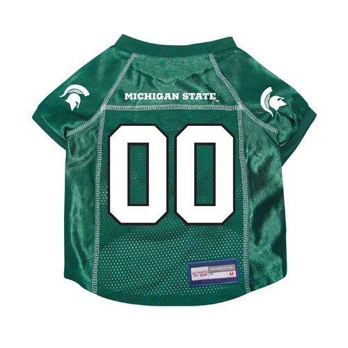 Michigan State Spartans Premium NCAA Pet Dog Jersey w/ Name Tag SMALL   B01JHKWPFQ