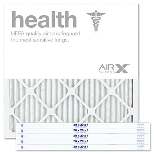 airx health 20x20x1 merv 13 pleated air filter - made in the usa - box of 6