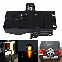 TOPPOWER Rear License Plate Tag Holder Bracket With Light For 2007-2016 Jeep Wrangler