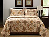Best Greenland Homes - Greenland Home 3-Piece Andorra Quilt Set, King, Multicolor Review