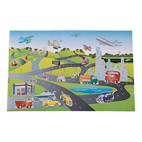 12 Jumbo Transportation Sticker Scenes Design Your Own - Cars Trucks Airplanes and more by OTC