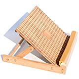 Garkup Exercise Slant Board - Adjustable Incline Calf Stretcher Board/Wood Slant Board To Stretch Calf 3 Angles Folding Slant Board For Calf, Ankle, Plantar Fasciitis & Foot Pain