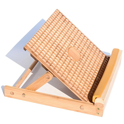 Garkup Exercise Slant Board - Adjustable Incline Calf Stretcher Board/Wood Slant Board To Stretch Calf 3 Angles Folding Slant Board For Calf, Ankle, Plantar Fasciitis & Foot Pain by Garkup