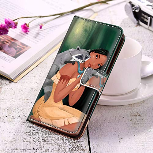 DISNEY COLLECTION Phone Wallet Case Compatible for Samsung Galaxy S10+ 6.4 Version Pocahontas Disney Series]()