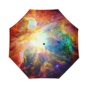 Universe Galaxy Space Nebula Cloud Custom Foldable Rain Umbrella Wind Resistant Windproof Floding Travel Umbrella