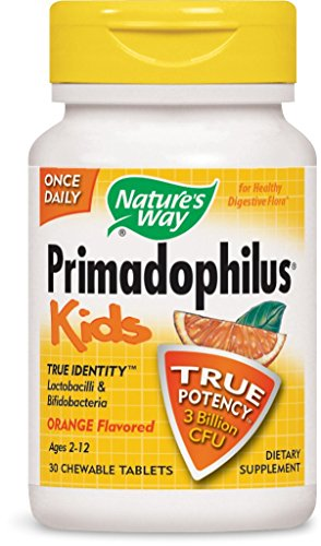 Nature's Way Primadophilus for Kids, Orange, 30 Count (Pack of 2)