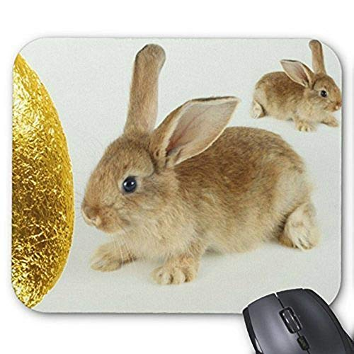 Gaming Mouse pad mousemat Lovely Rabbit Mousepad Series Golden Easter Egg and Bunnies Mouse Pad Bunny Rabbit Mouse Pad Rectangle Mousepads