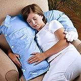 Soft Hug Cushion Boyfriend - Seitenschläferkisser - Kuschel Kissen für Einsame (Hellblau)